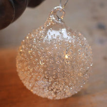 Load image into Gallery viewer, Glass Ball Crushed Silver Bauble
