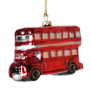 Red Glass Double decker Bus