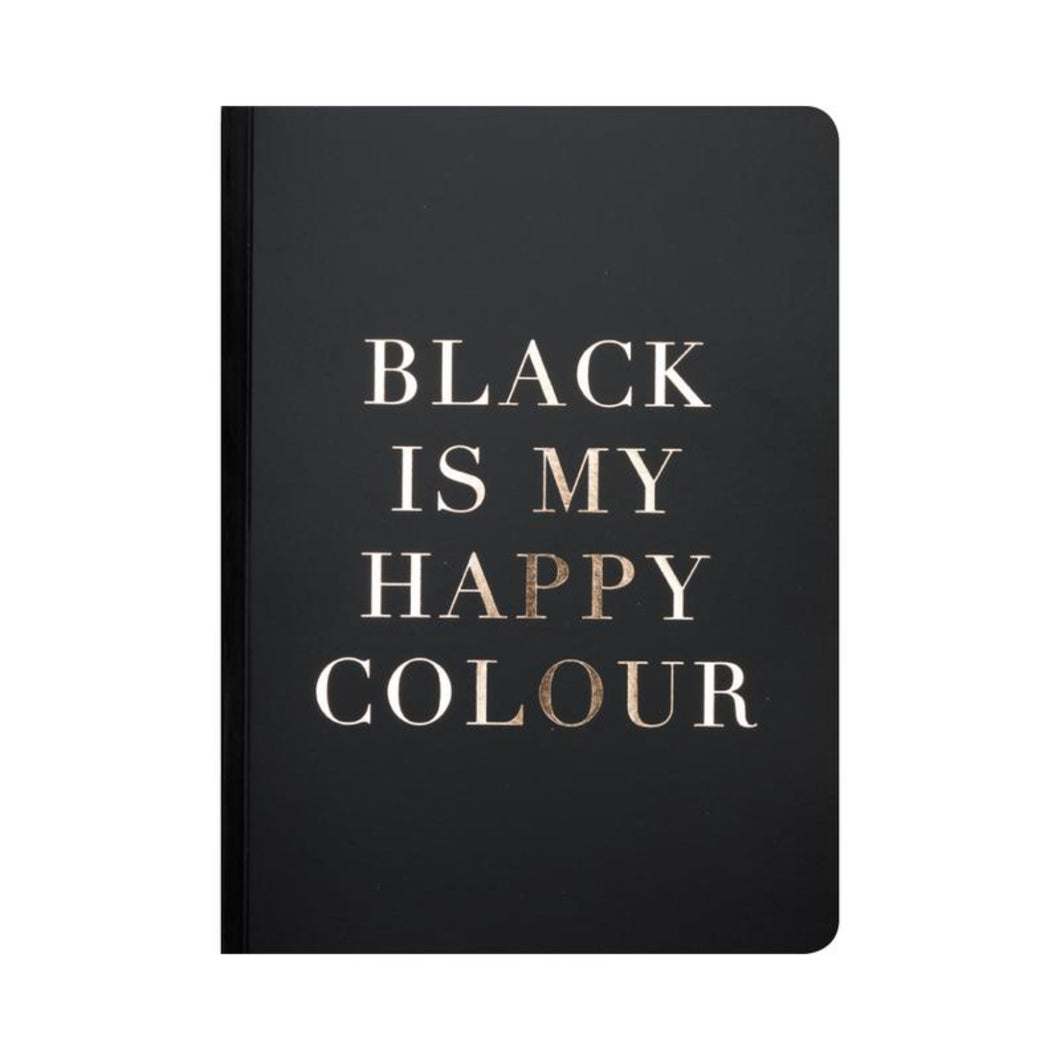 Black Is My Happy Colour A5 Notebbok