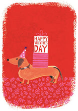 Load image into Gallery viewer, Valentines Dachshund Card