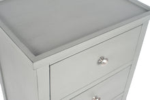 Load image into Gallery viewer, Vendee Grey Wooden Three Draw Unit