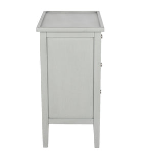 Vendee Grey Wooden Three Draw Unit