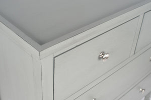 Vendee Grey Wooden Four Draw Unit