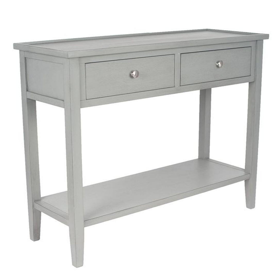grey pine wooden console table