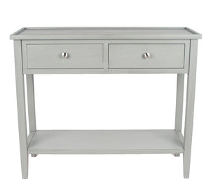 Vendee Grey Wood Console Table
