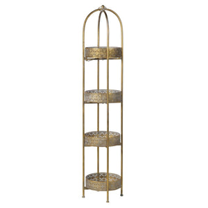Ornate Tall 4 Tier Round Tray Stand