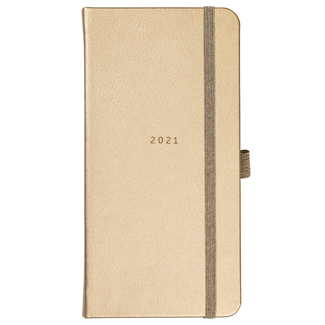 Slim Diary 2021 Rose Gold Faux
