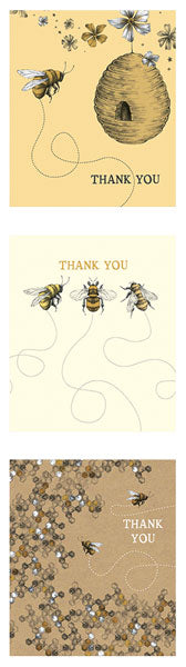 Bee Thank You Pack Of 12 Notecards