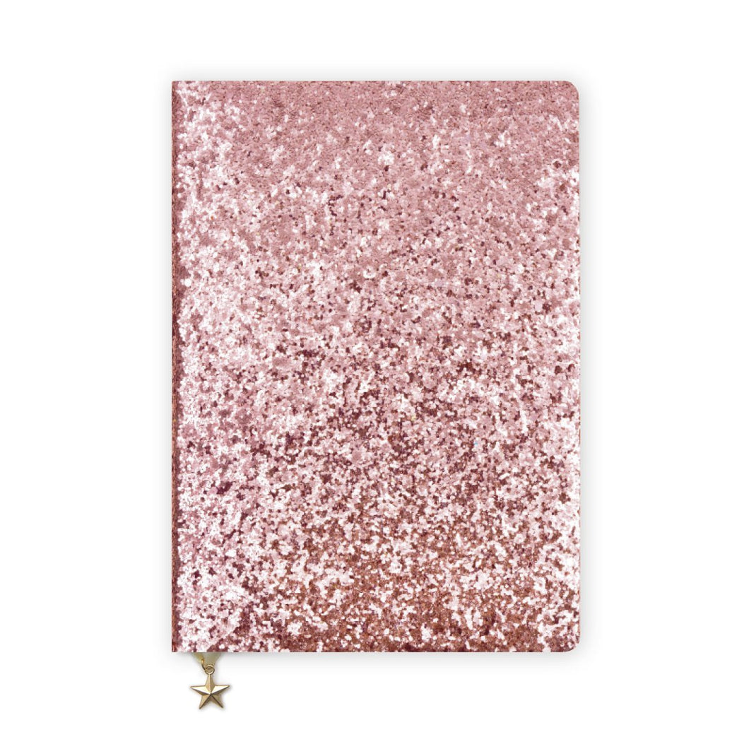ALL THAT GLITTERS A5 NOTEBOOK - PINK SEQUIN