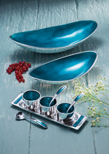 Load image into Gallery viewer, Recycled Aluminium & Turquoise Tray, Dish & Spoon Trio