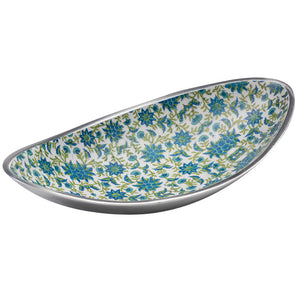 Recycled Aluminium Floral Oval Bowl