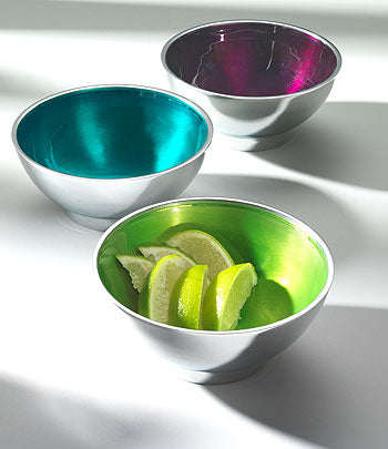 Recycled Aluminium Round Bowl - Various Colours