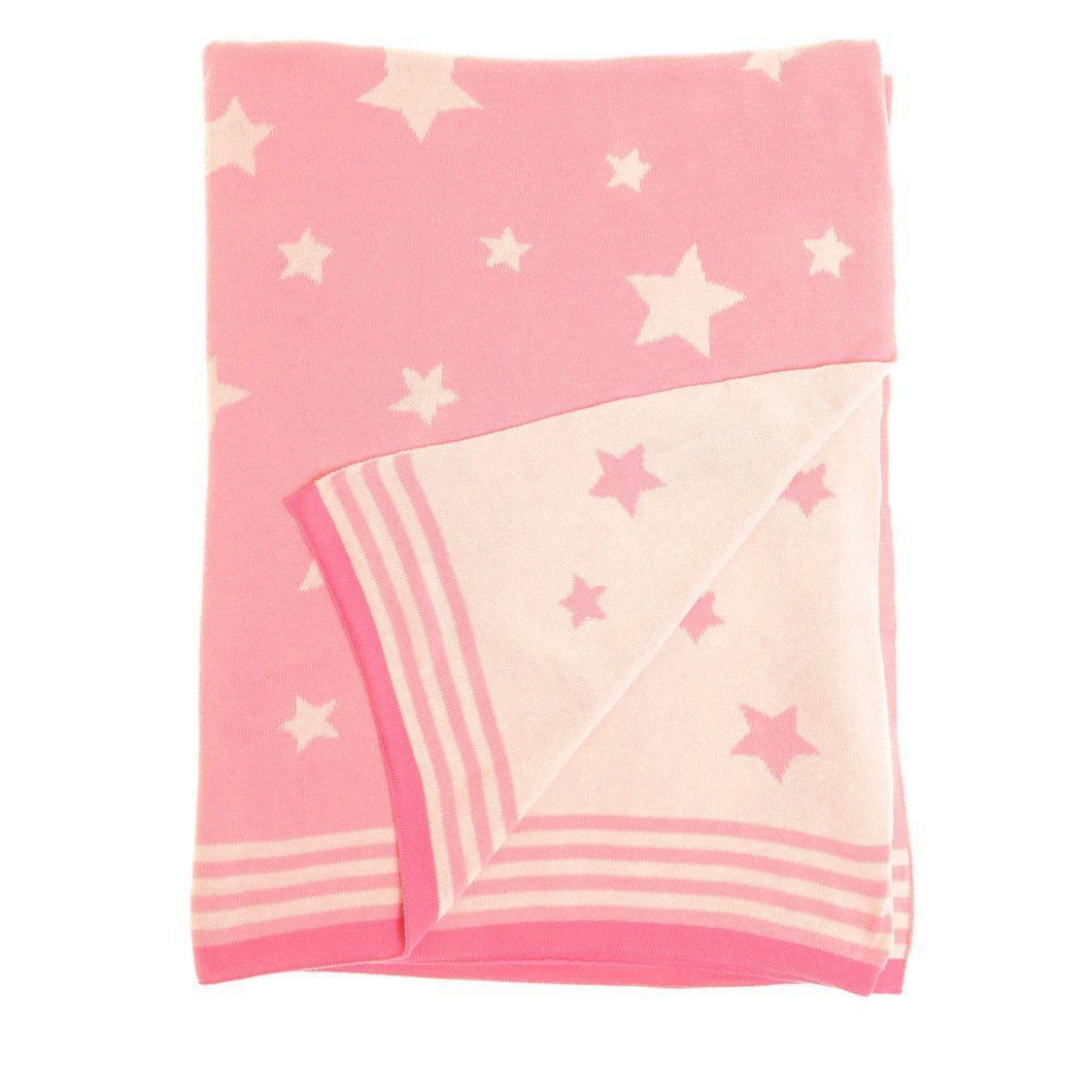 pink-star-knitted-baby-blanket