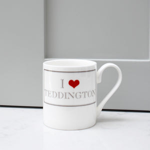 I Heart Teddington Bone China Mug