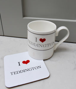 I Heart Teddington Coaster