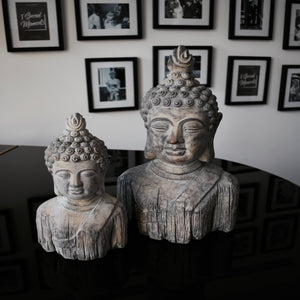 Mystic Garden Stone Buddha Head (Two Sizes)