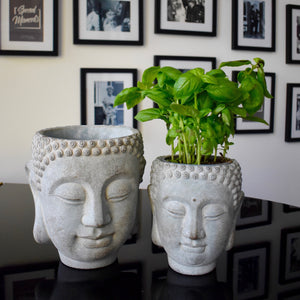 Mystic Garden Stone Buddha Planter (Two Sizes)