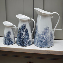 Load image into Gallery viewer, Blue & White Ceramic Feathery Fern Jugs