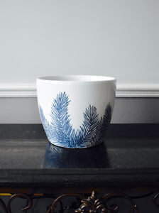 Blue & White Ceramic Feathery Fern Plant Pots