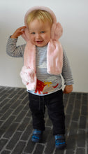 Load image into Gallery viewer, Super Soft Faux Fur Children's Pink Star Ear Muffs & Scarf