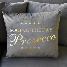 Load image into Gallery viewer, prosecco-cushion-grey-cushion