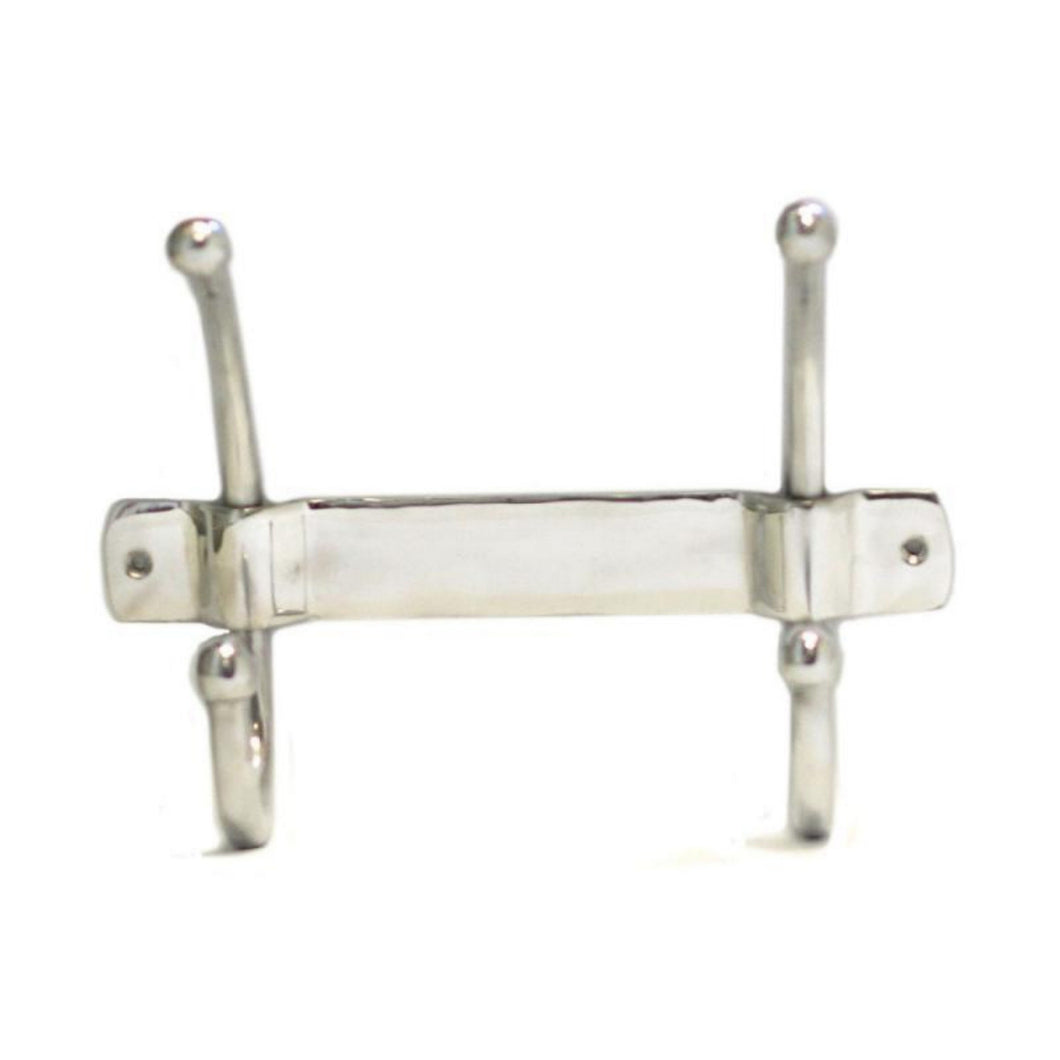 single aluminium coat hook