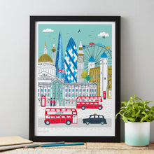Load image into Gallery viewer, Jessica-Hogarth-London-skyline-print-A3-print