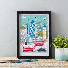 Load image into Gallery viewer, Jessica Hogarth Illustrated London Skyline Art Print