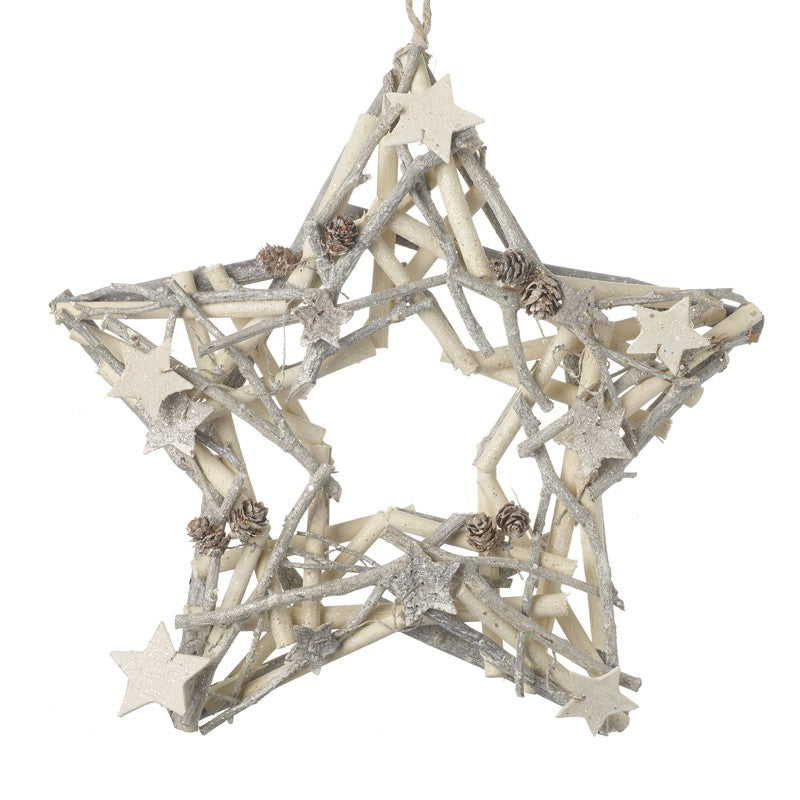 Star Shaped Twig & Star Christmas Wreath