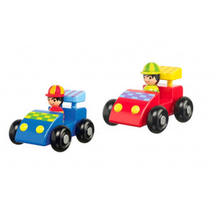 First Wooden Racing Car Set