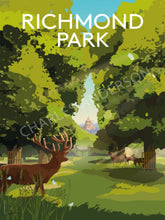 Load image into Gallery viewer, richmond-park-art-print