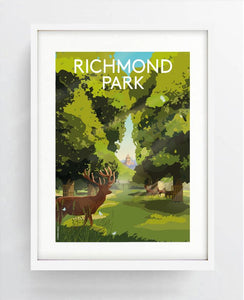 Richmond Park Digital Art Print A3