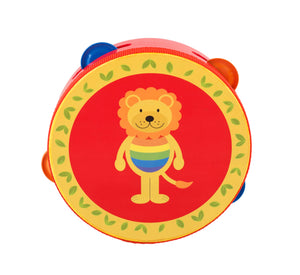 Traditional Wooden Lion Tambourine Toy