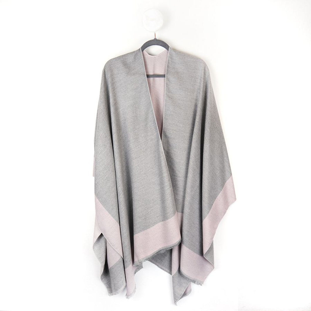 Reversible Pink and Grey Winter Wrap