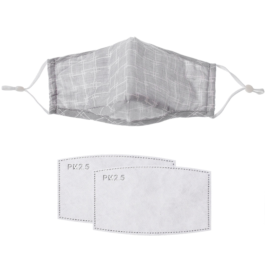 Gracee Face Mask Grey Check