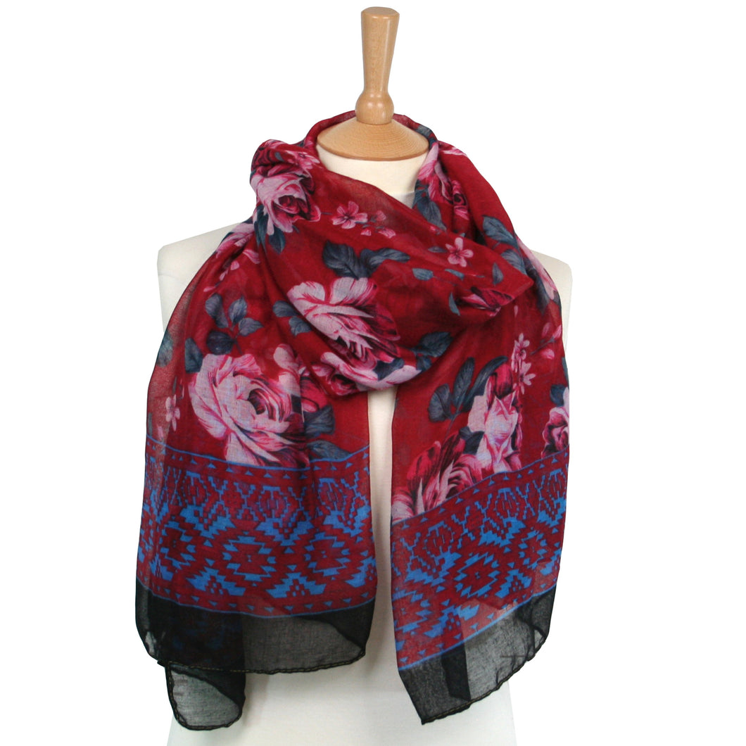 Roses Scarf – Red