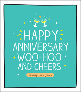 To Many More Years, Happy Anniversary card