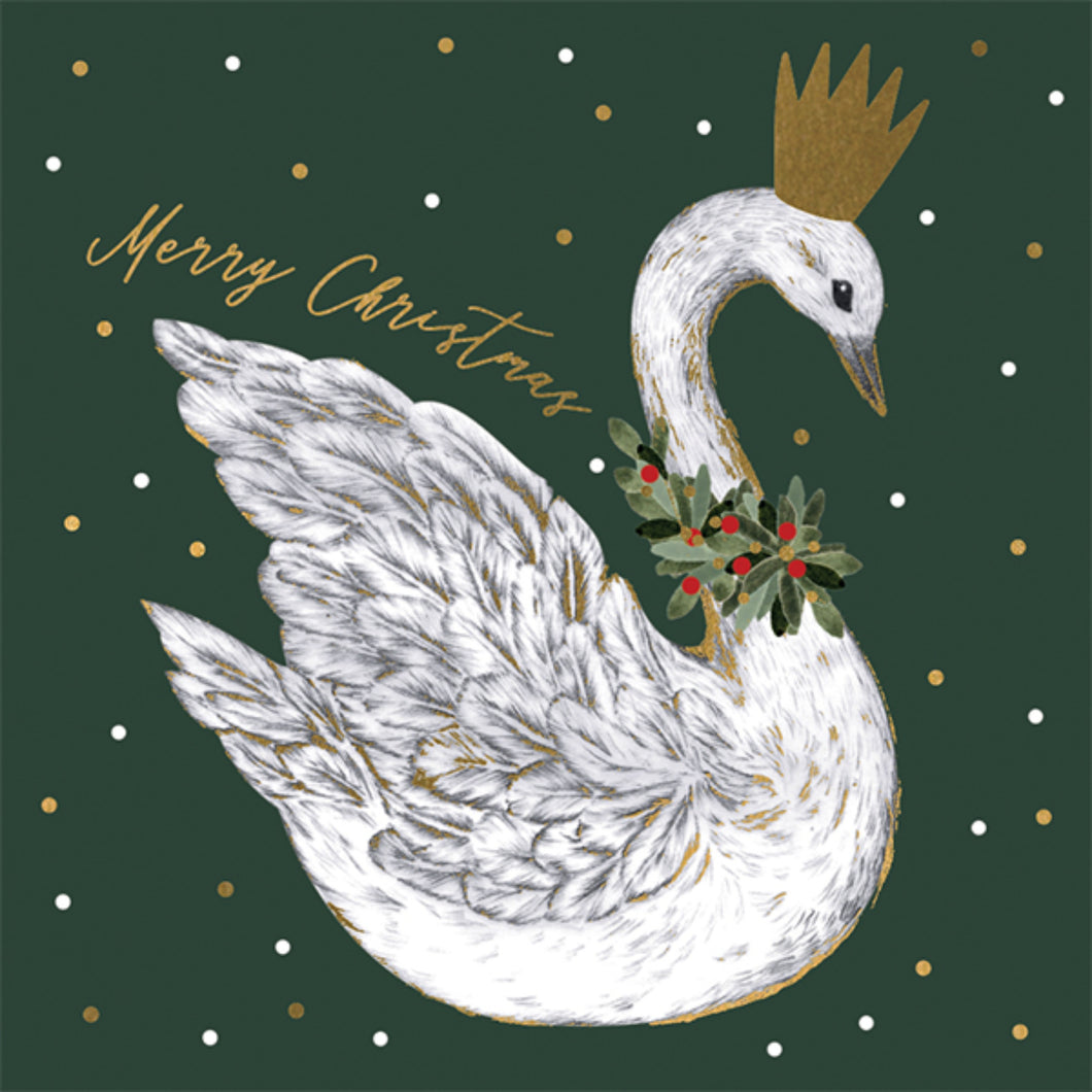 Swan Pack of 6 Charity Christmas Cards