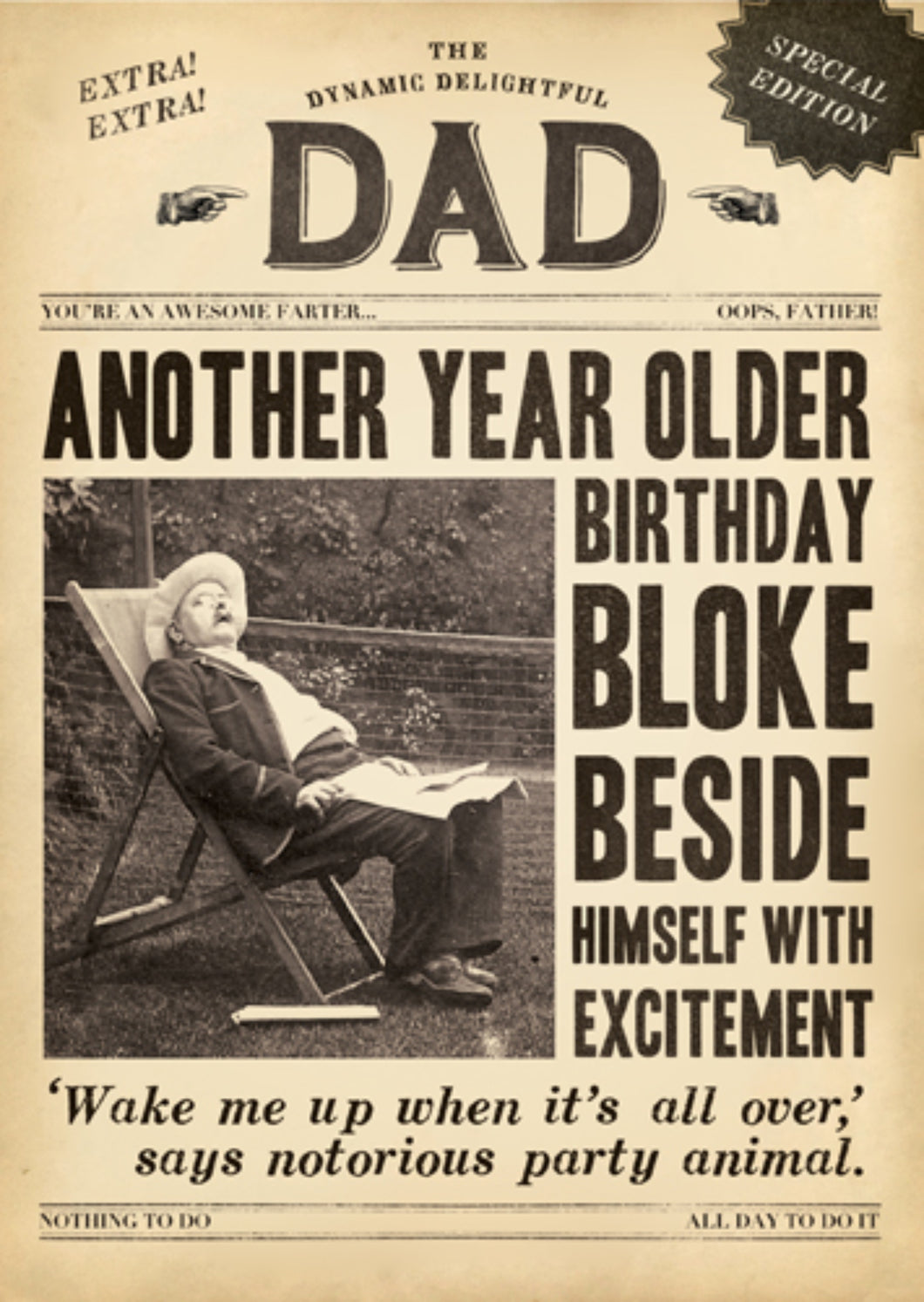 Another Year Older Dad card