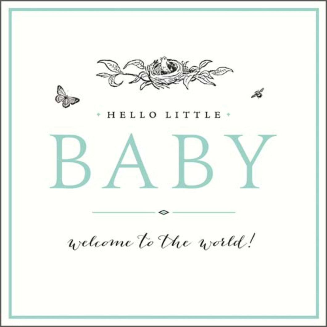 Welcome to the World, New baby card