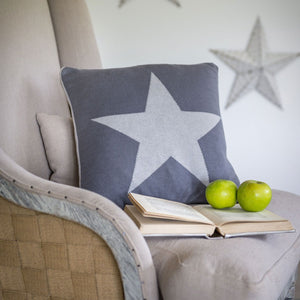 2 Tone Star Grey Cushion