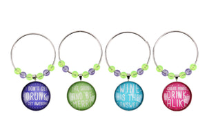 Garden Party Wine Glass Charms