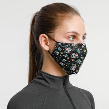 Load image into Gallery viewer, Gracee Face Mask Black Flower