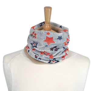 Childs Neck Warmer Blue & Orange Stars