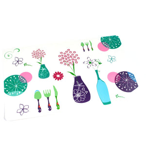 Set of 6 Table Mats and 6 Coasters – Flowers
