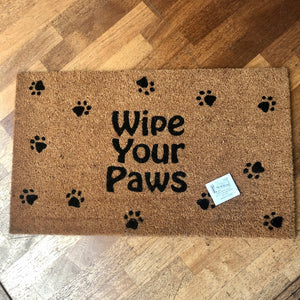 Wipe Your Paws  Door Mat 75x45cm