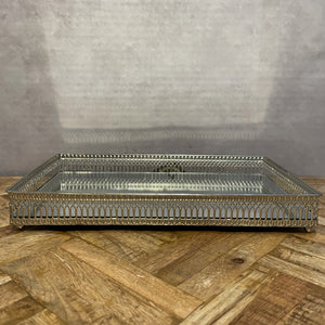 Rectangular Nickel Plated Tray - Large