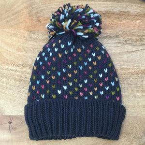 Knitted Hat With Rainbow