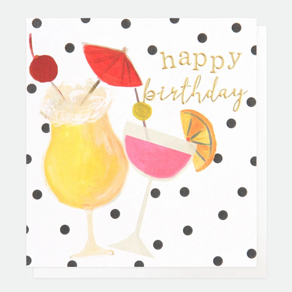 Tropical Cocktails Birthday Card