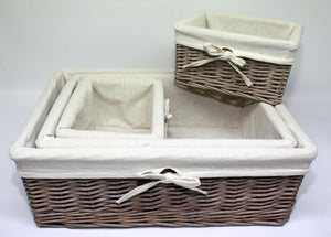Grey Willow Storage Basket - 3 Sizes